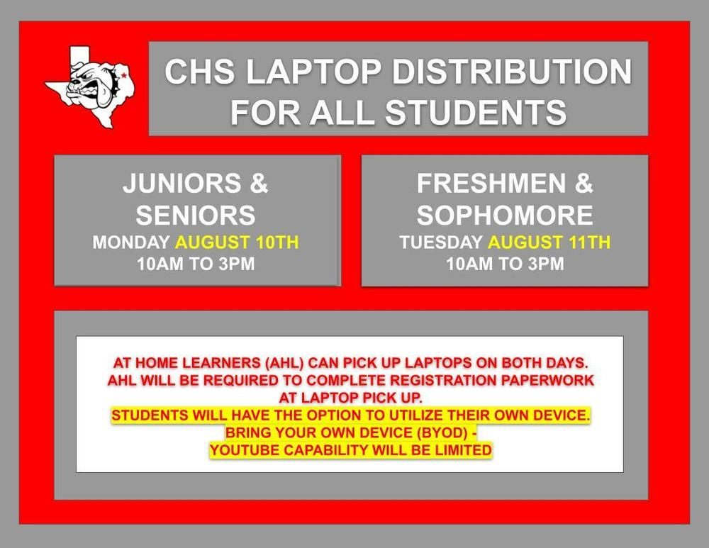 High School Laptop Distribution