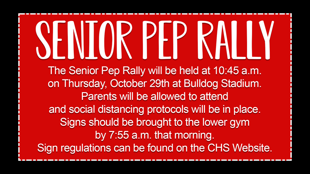 Senior Pep Rally Information