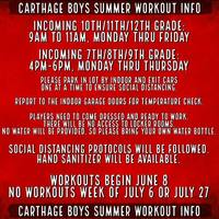 Carthage Boys' Summer Workout