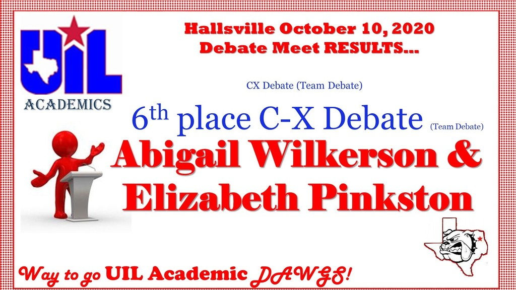 Debate Meet Results