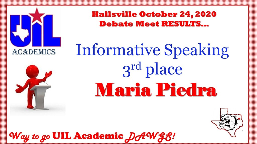 Debate Meet Results 10-24-2020
