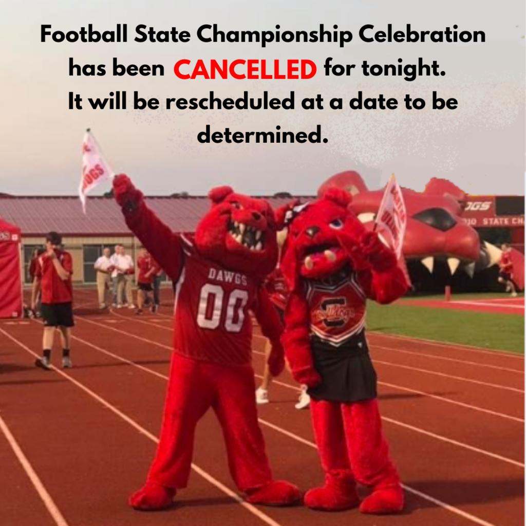 State Football Celebration Cancelled
