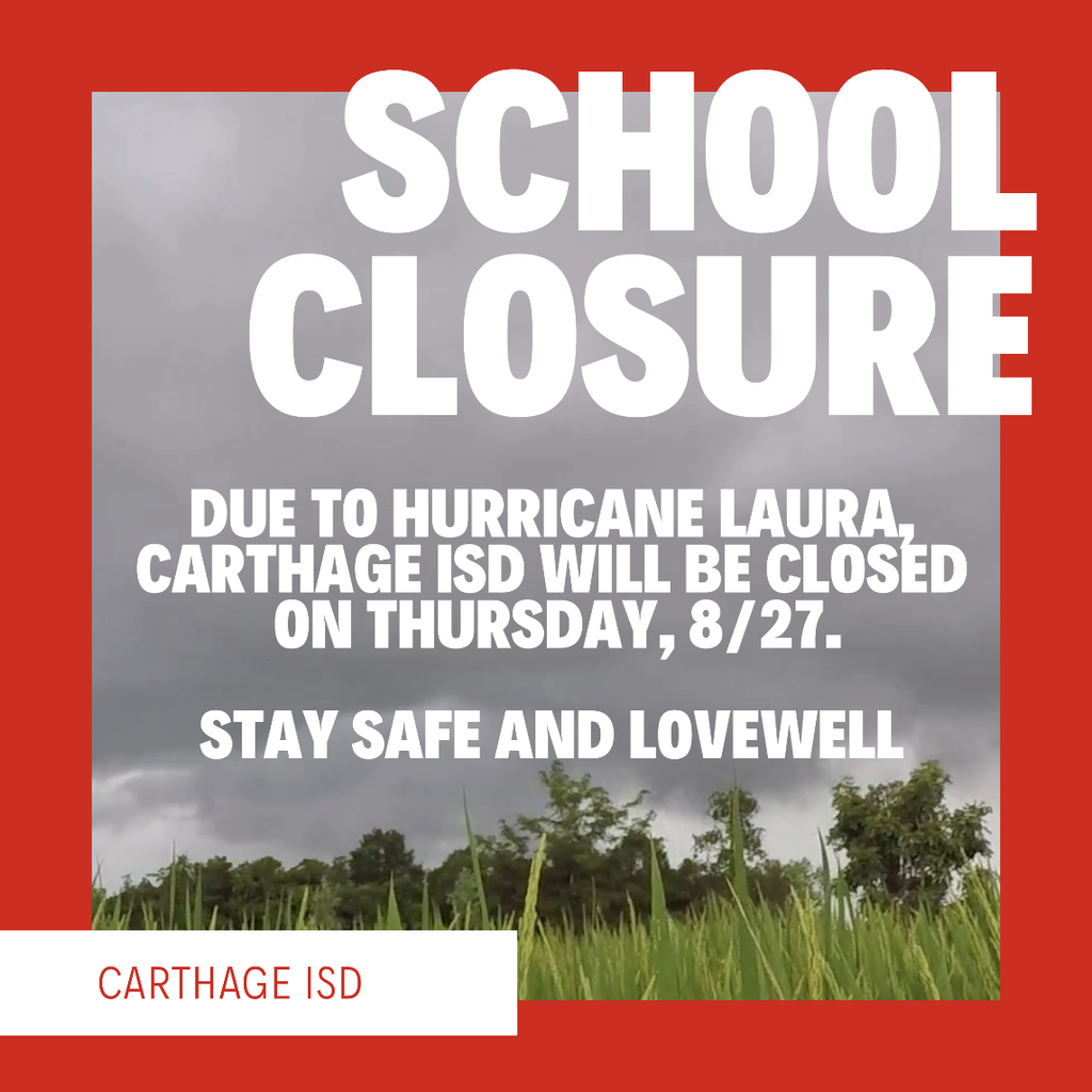 School closure graphic with same information.