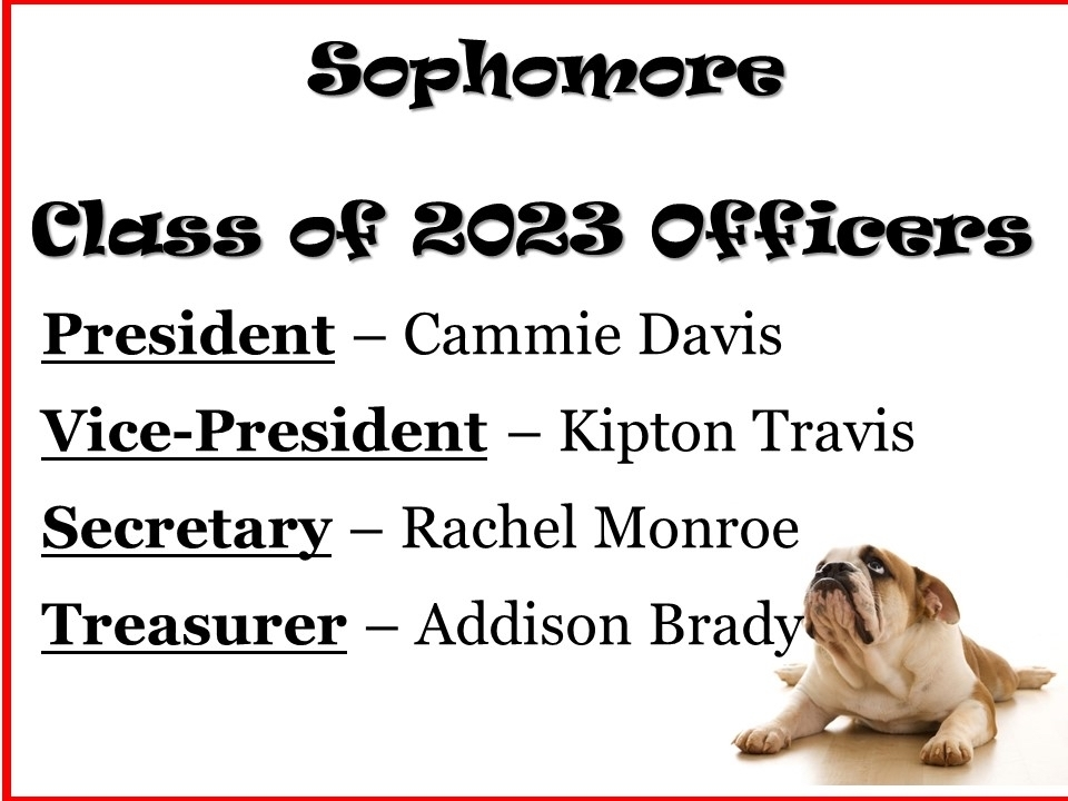 Sophomore officers