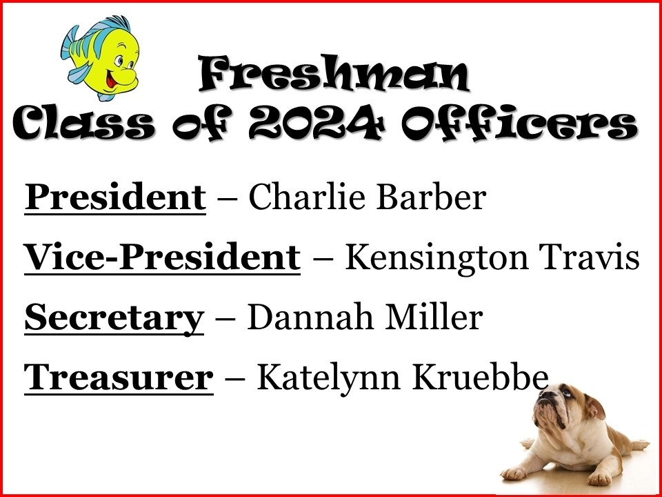 Freshman officers