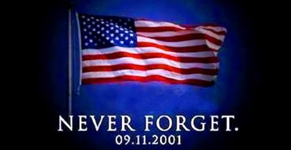 Never Forget 9.11.2001 image with flag.